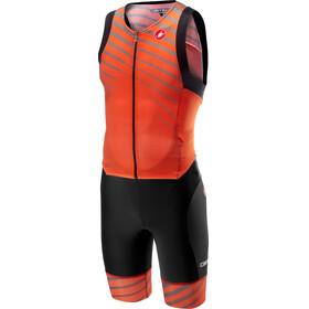 Castelli Free Sanremo Sleeveless Suit Men orange